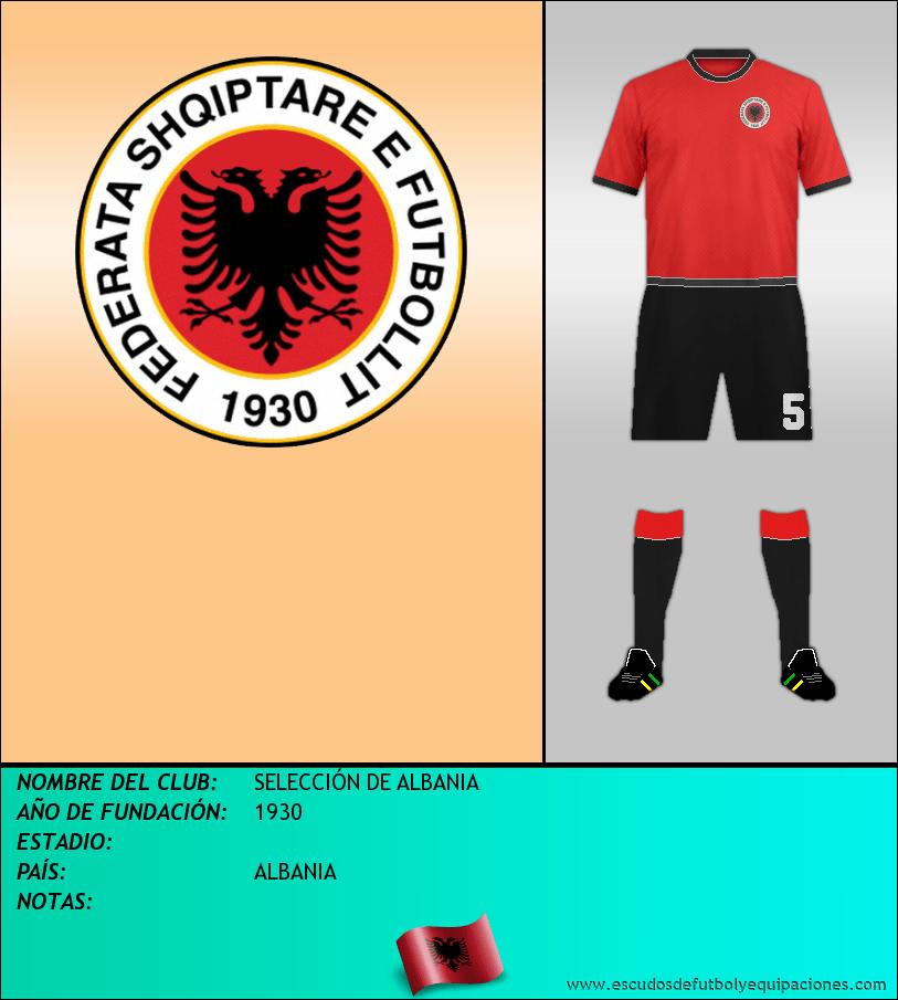 Escudo de SELECCIÓN DE ALBANIA