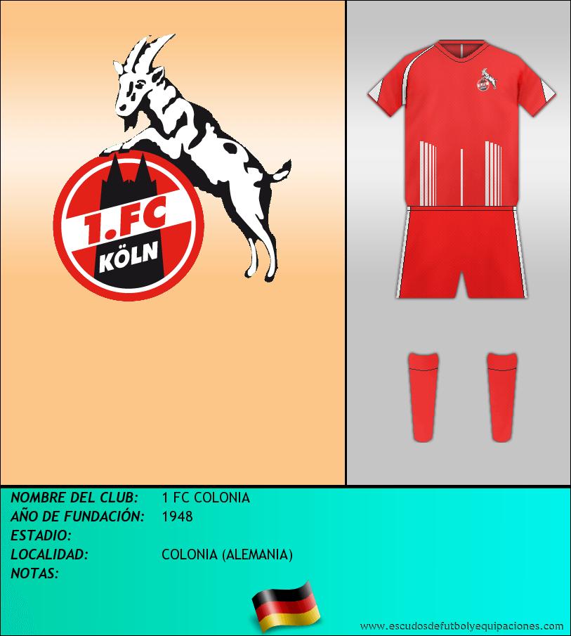 Escudo de 1 FC COLONIA