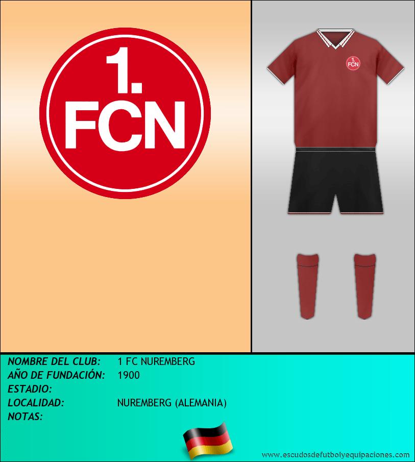 Escudo de 1 FC NUREMBERG