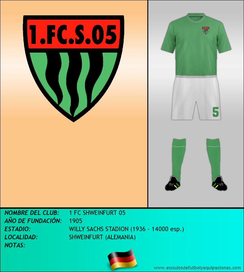 Escudo de 1 FC SHWEINFURT 05