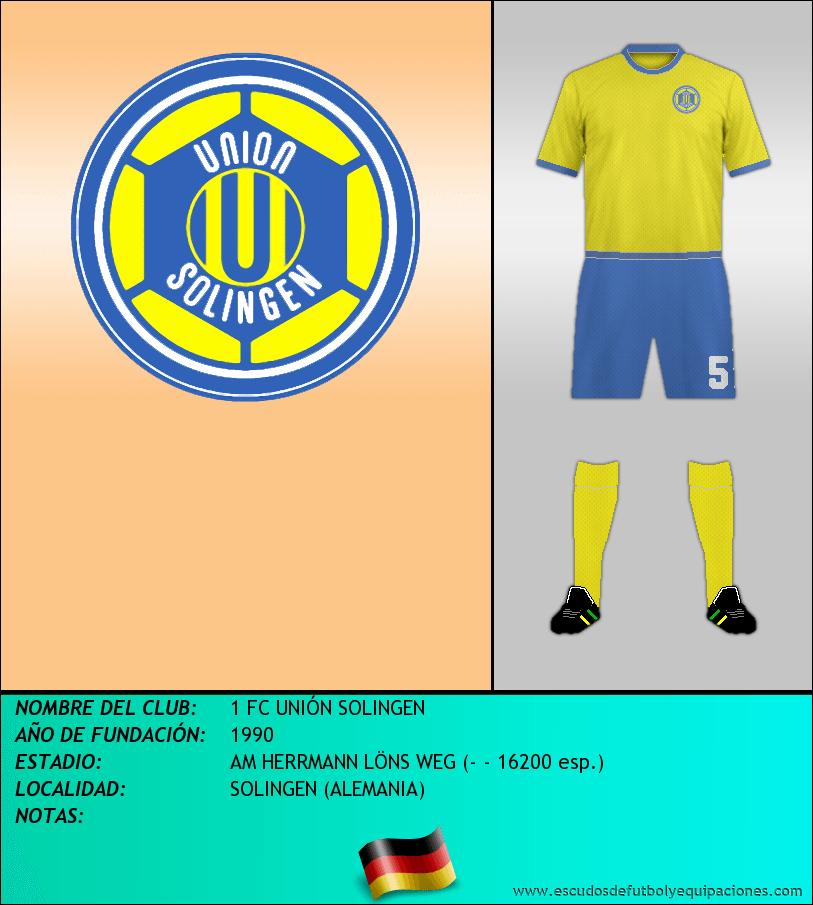 Escudo de 1 FC UNIÓN SOLINGEN