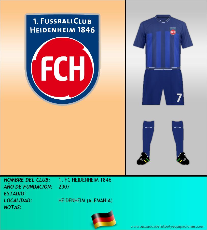 Escudo de 1. FC HEIDENHEIM 1846