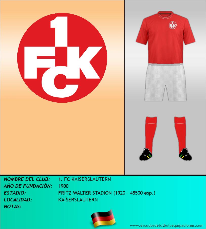 Escudo de 1. FC KAISERSLAUTERN