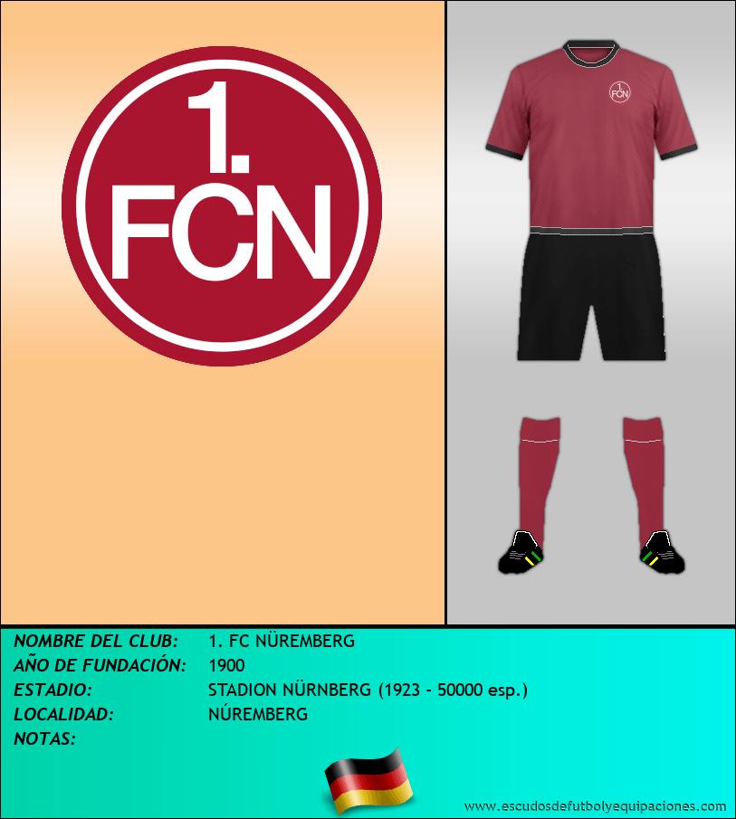 Escudo de 1. FC NÜREMBERG