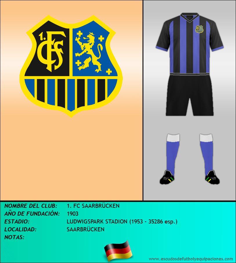 Escudo de 1. FC SAARBRÜCKEN