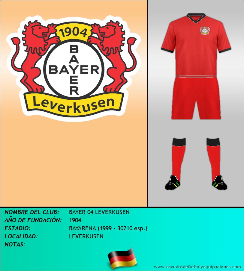 Escudo de BAYER 04 LEVERKUSEN