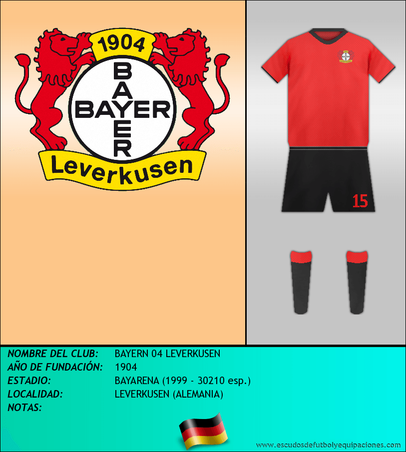 Escudo de BAYERN 04 LEVERKUSEN