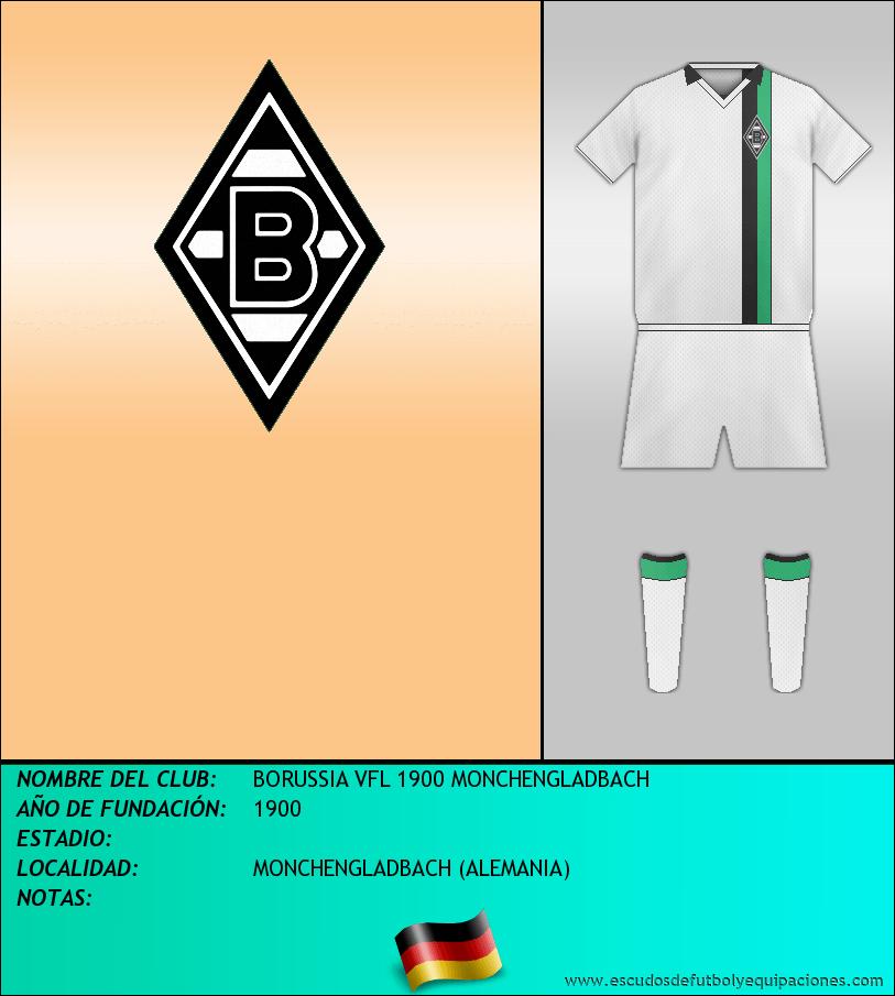 Escudo de BORUSSIA VFL 1900 MONCHENGLADBACH