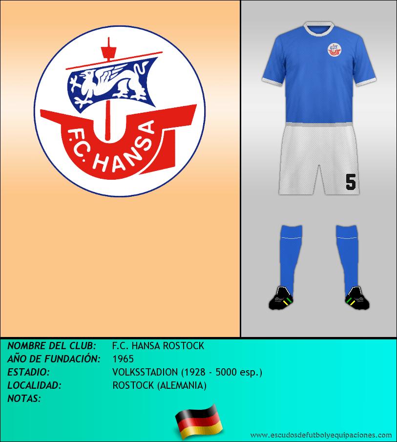 Escudo de F.C. HANSA ROSTOCK