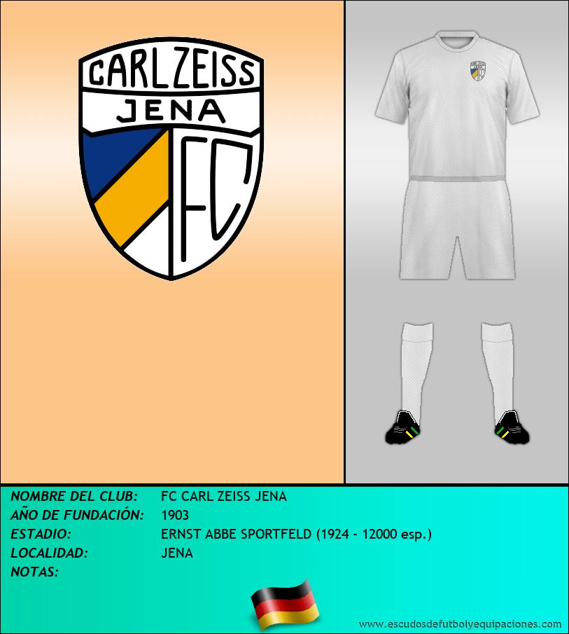 Escudo de FC CARL ZEISS JENA