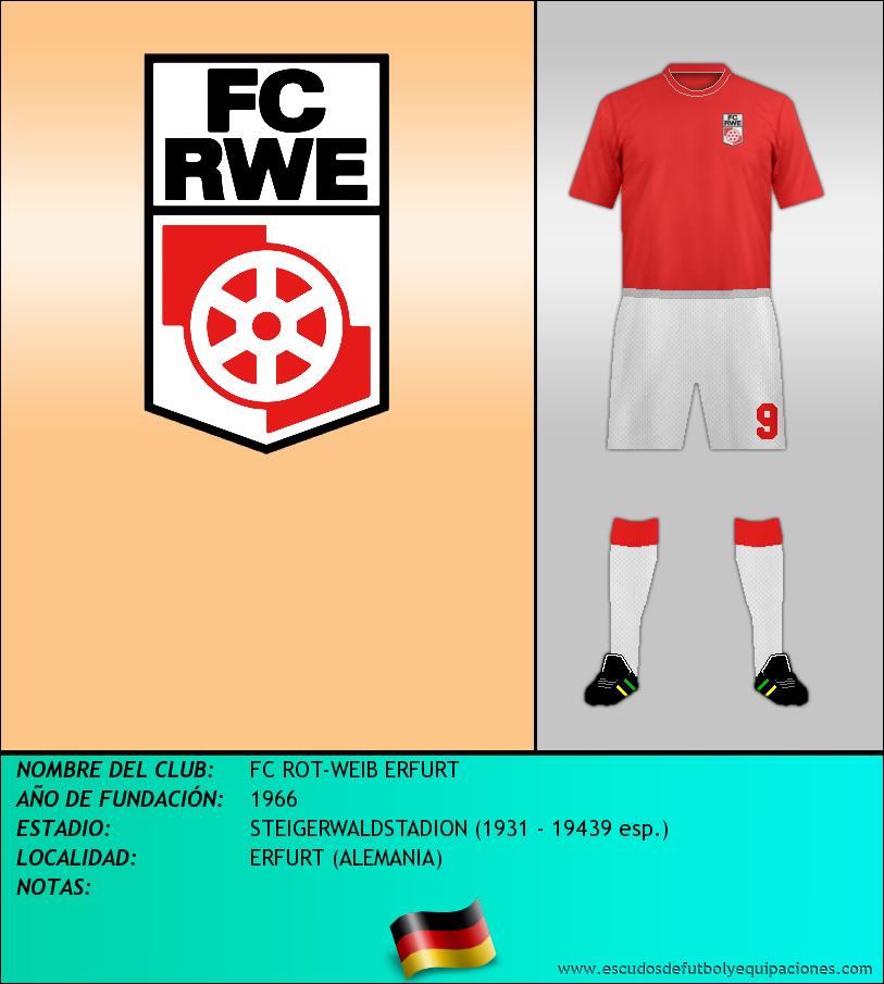 Escudo de FC ROT-WEIB ERFURT