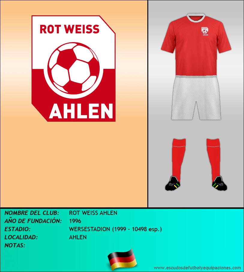 Escudo de ROT WEISS AHLEN
