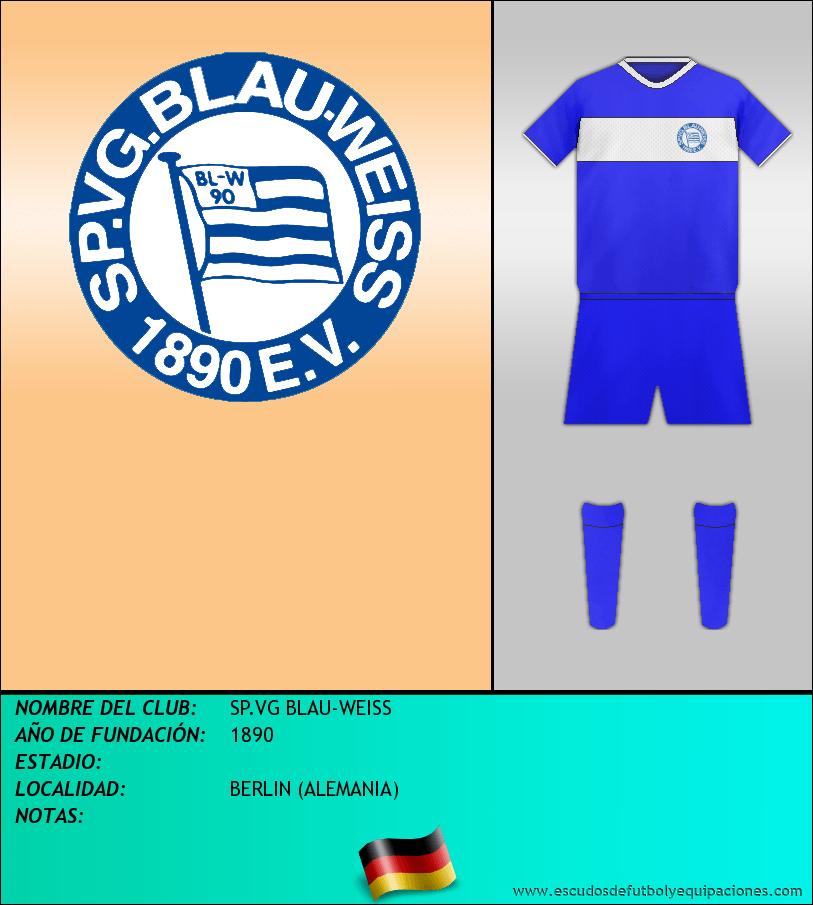 Escudo de SP.VG BLAU-WEISS