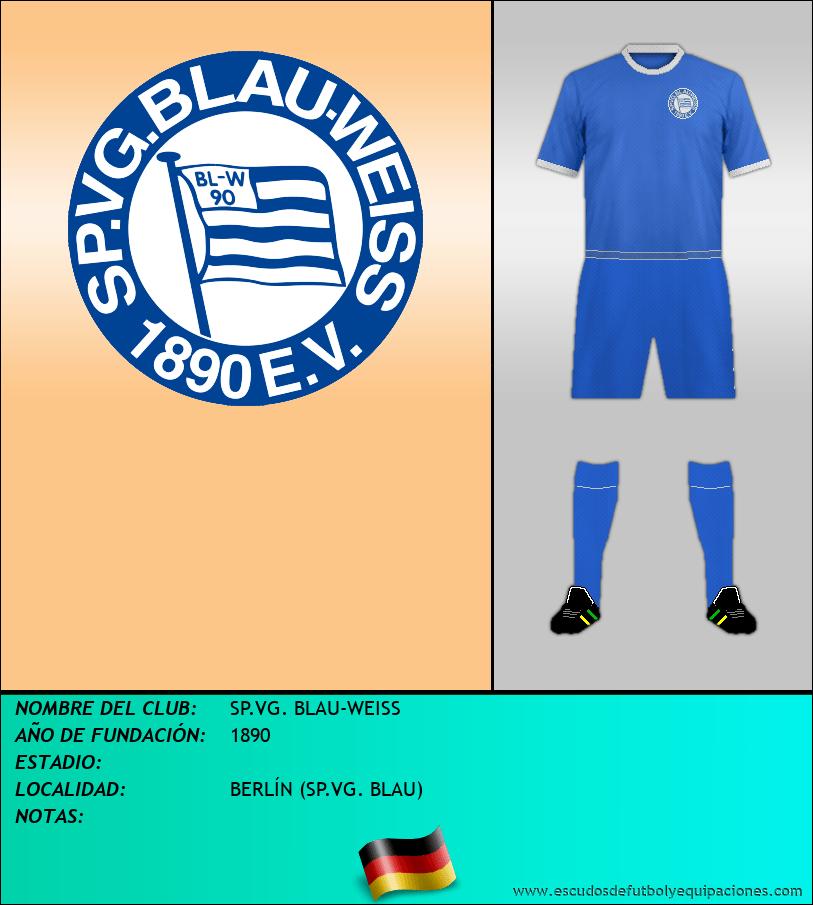 Escudo de SP.VG. BLAU-WEISS