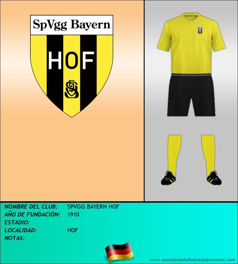 Escudo de SPVGG BAYERN HOF