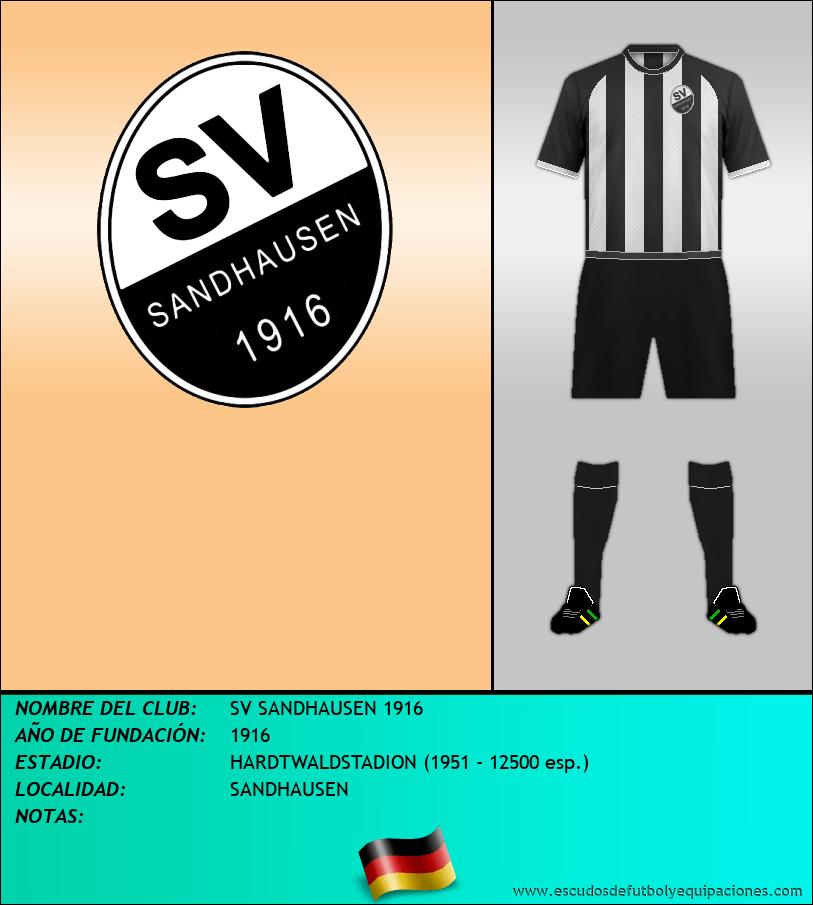 Escudo de SV SANDHAUSEN 1916