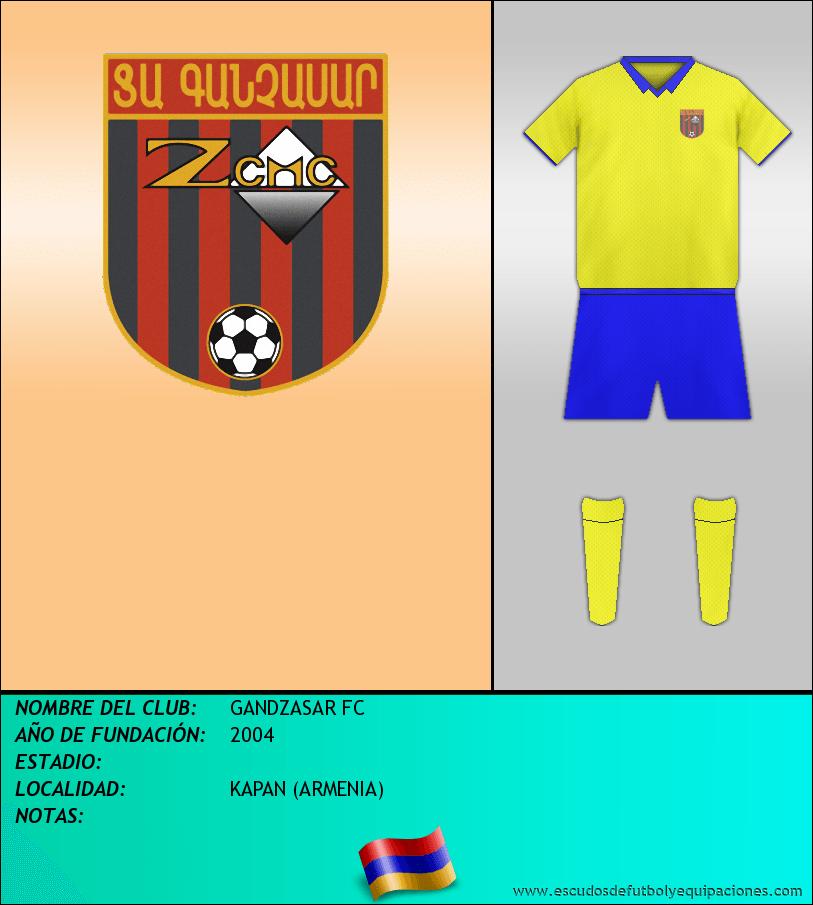 Escudo de GANDZASAR FC