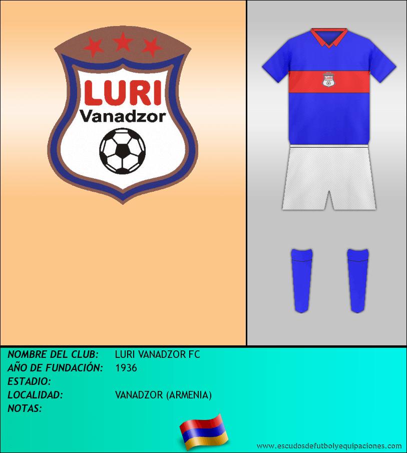Escudo de LURI VANADZOR FC