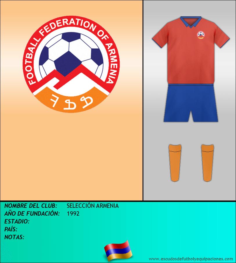 Escudo de SELECCIÓN ARMENIA