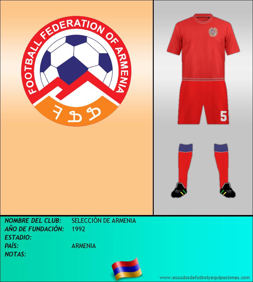 Escudo de SELECCIÓN DE ARMENIA