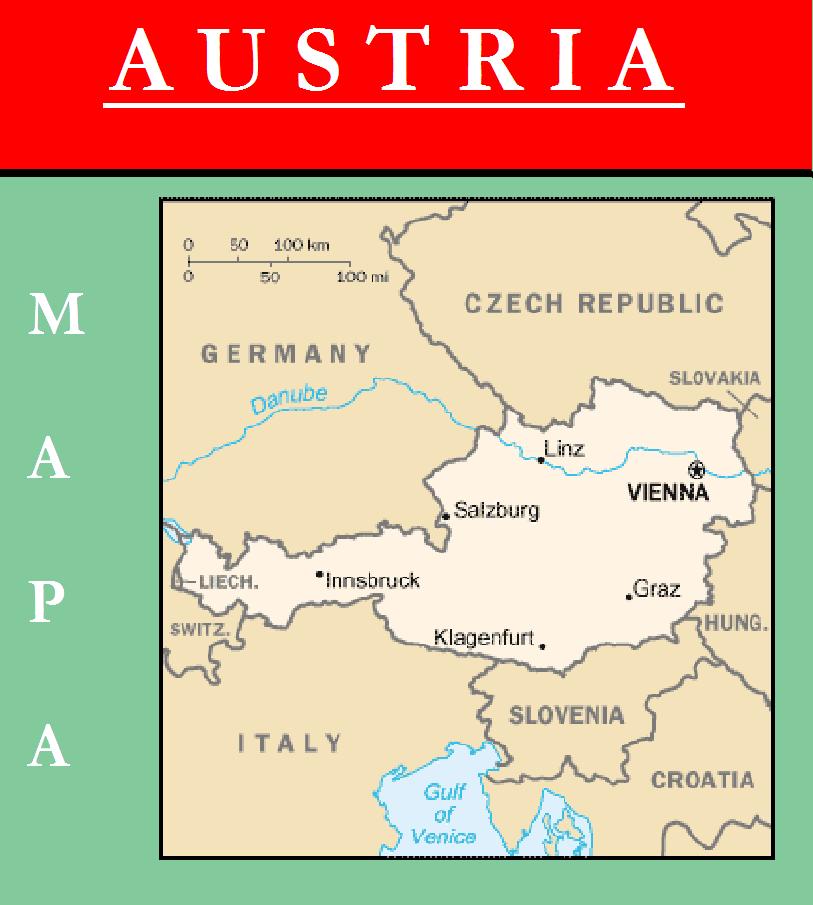 Escudo de MAPA DE AUSTRIA
