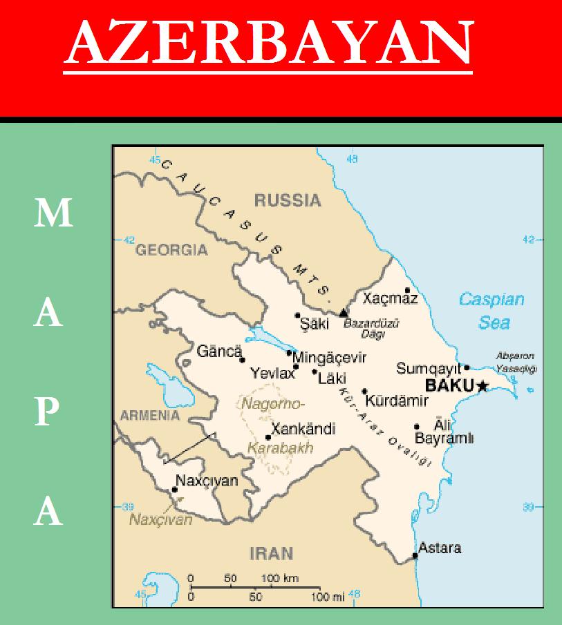 Escudo de MAPA DE AZERBAIYÁN