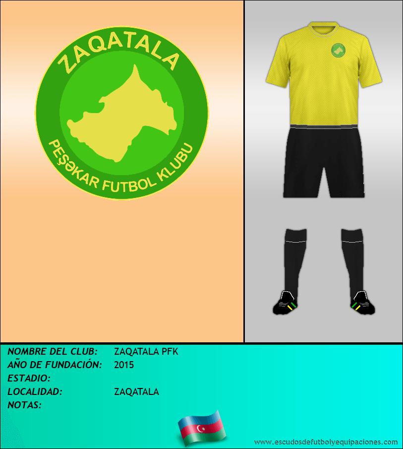 Escudo de ZAQATALA PFK