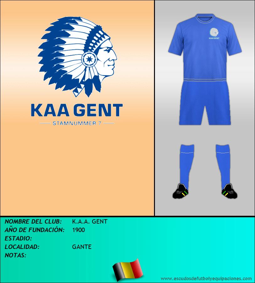 Escudo de K.A.A. GENT
