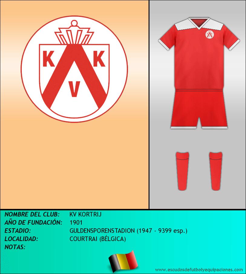 Escudo de KV KORTRIJ