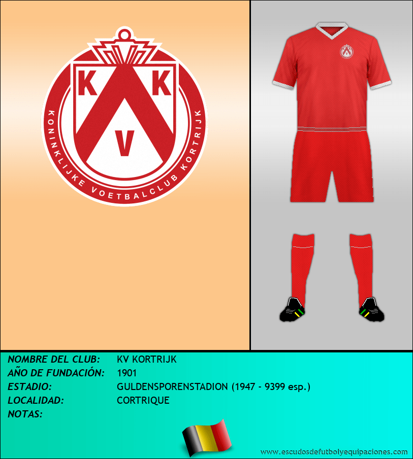 Escudo de KV KORTRIJK