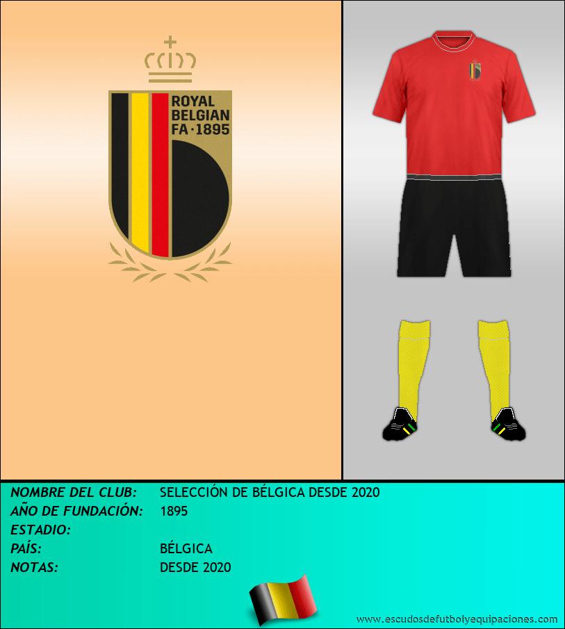 Escudo de SELECCIÓN DE BÉLGICA DESDE 2020