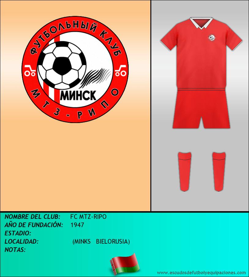 Escudo de FC MTZ-RIPO