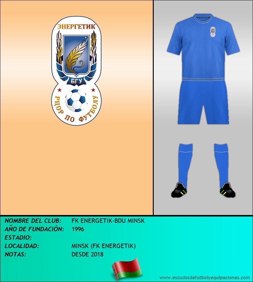 Escudo de FK ENERGETIK-BDU MINSK