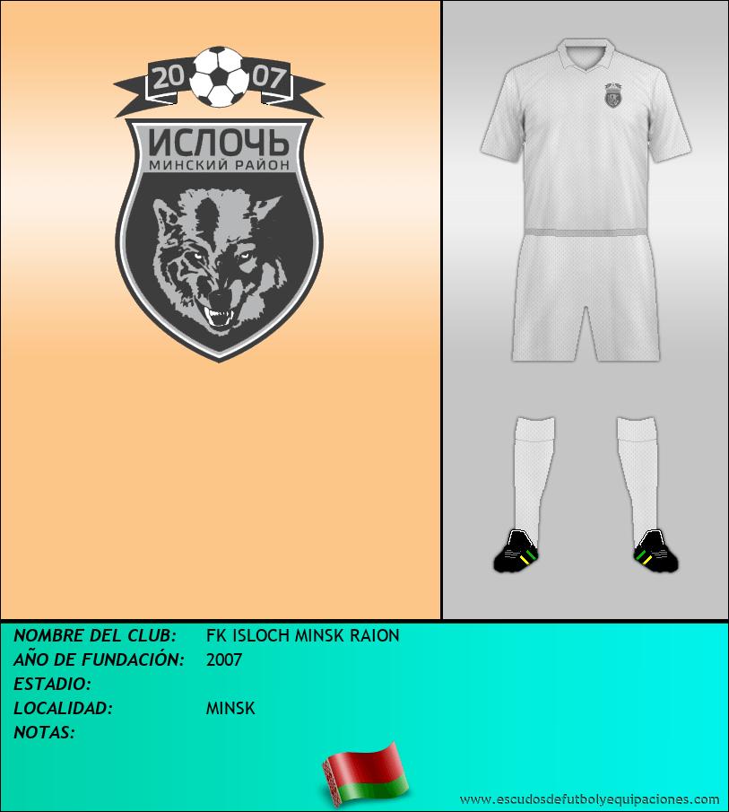 Escudo de FK ISLOCH MINSK RAION