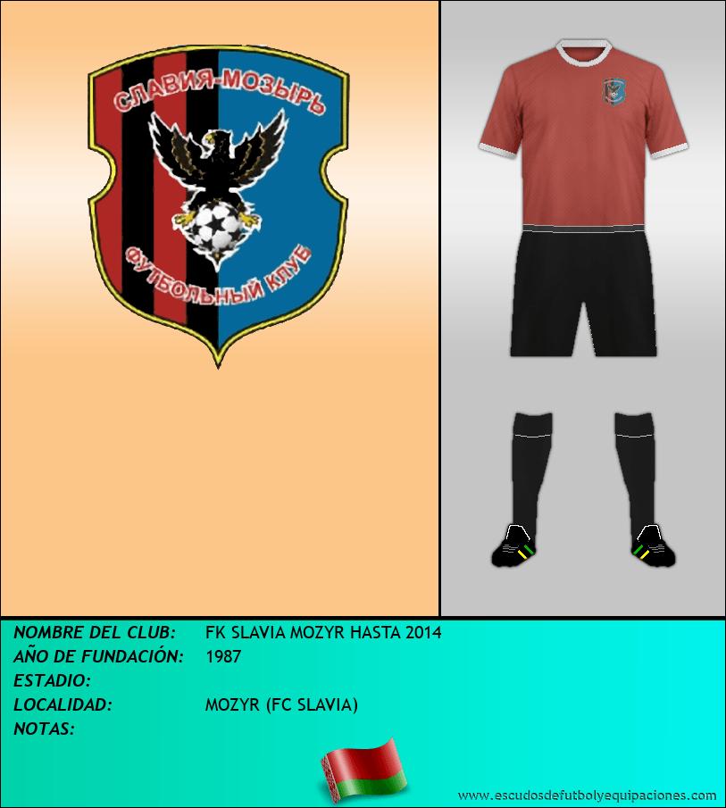 Escudo de FK SLAVIA MOZYR HASTA 2014