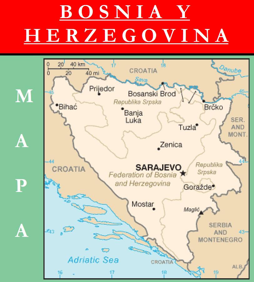 Escudo de MAPA DE BOSNIA