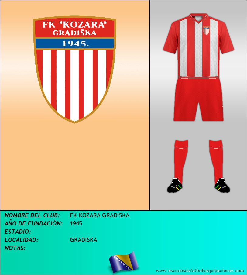 Escudo de FK KOZARA GRADISKA