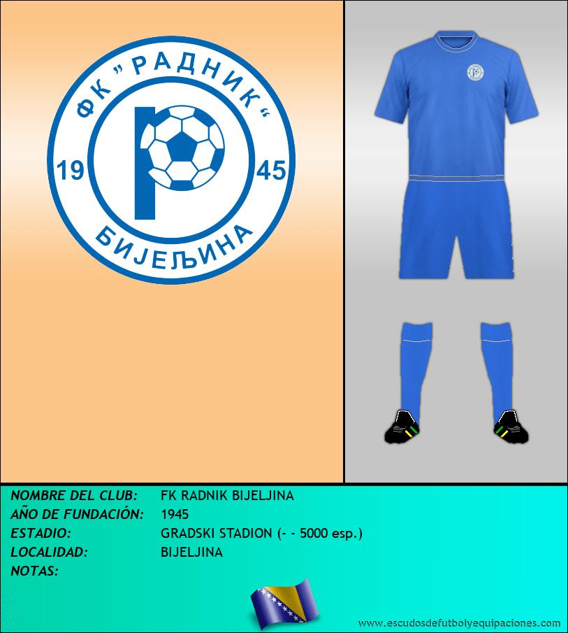 Escudo de FK RADNIK BIJELJINA