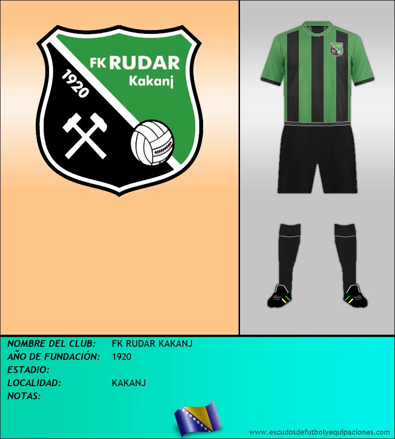 Escudo de FK RUDAR KAKANJ