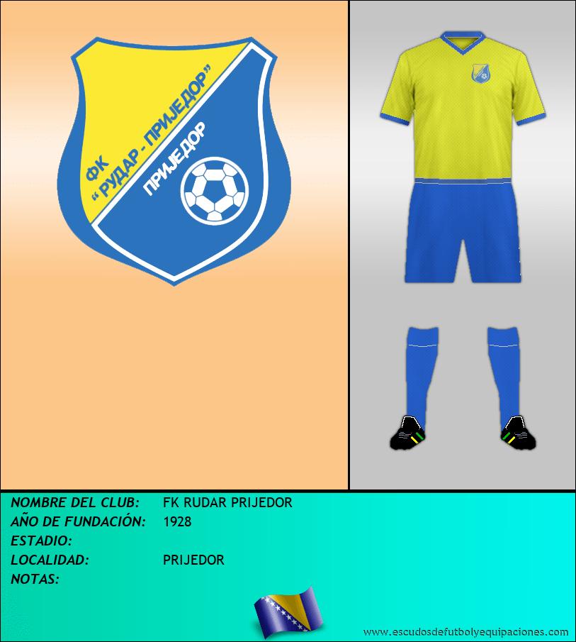 Escudo de FK RUDAR PRIJEDOR