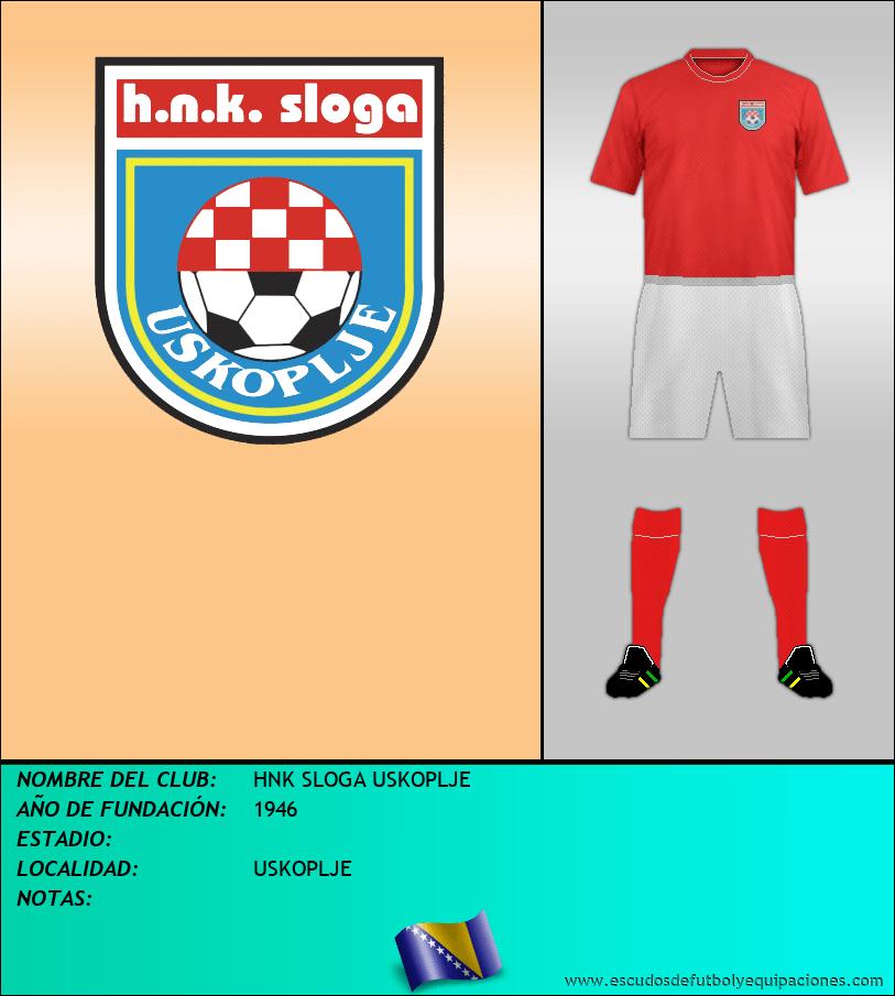 Escudo de HNK SLOGA USKOPLJE