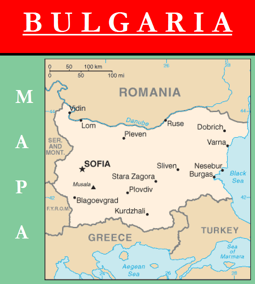 Escudo de MAPA DE BULGARIA