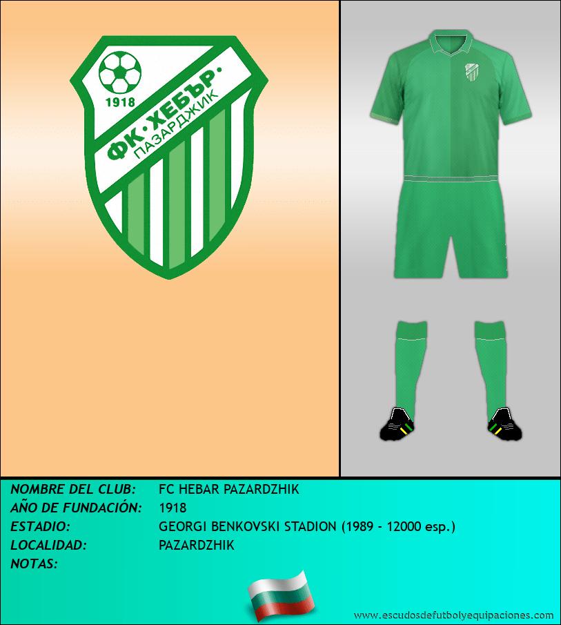 Escudo de FC HEBAR PAZARDZHIK