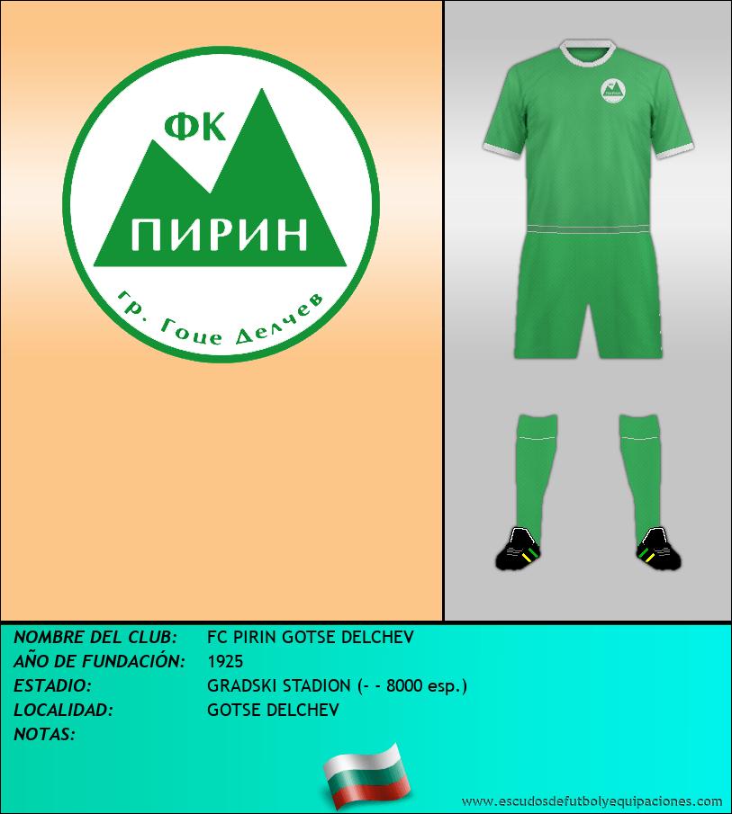 Escudo de FC PIRIN GOTSE DELCHEV