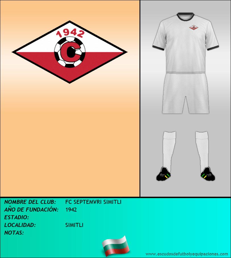 Escudo de FC SEPTEMVRI SIMITLI
