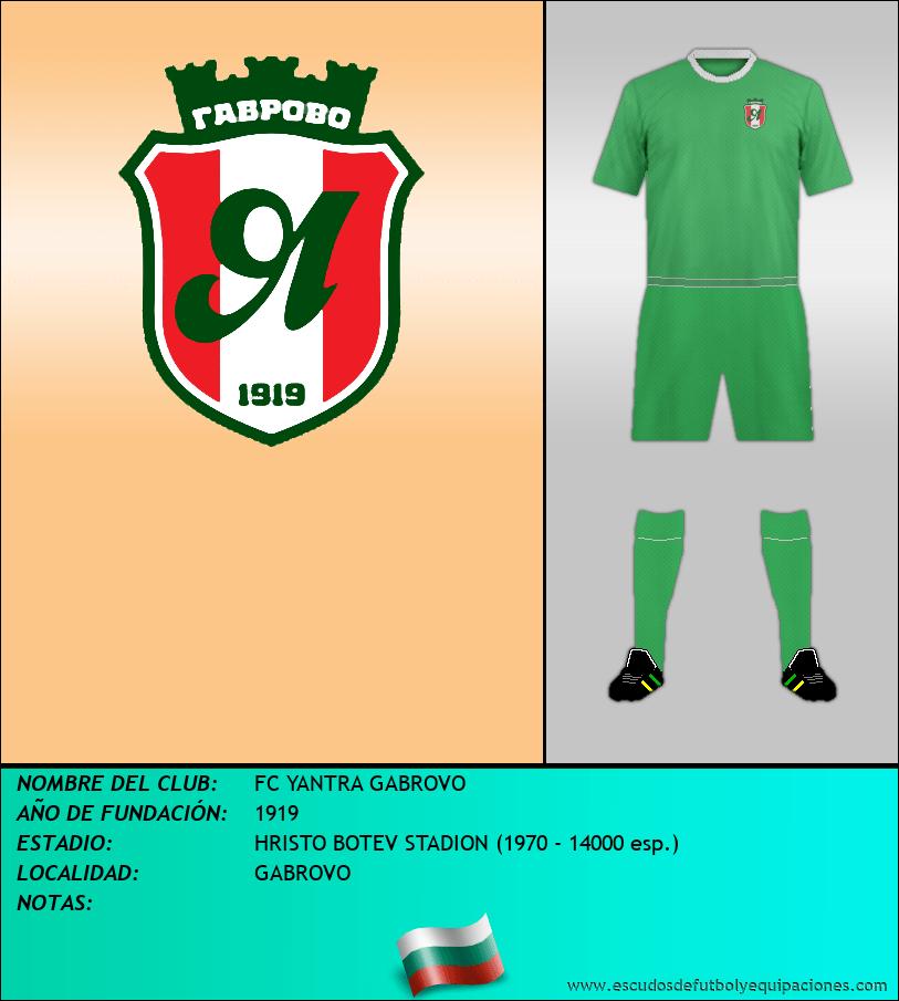 Escudo de FC YANTRA GABROVO