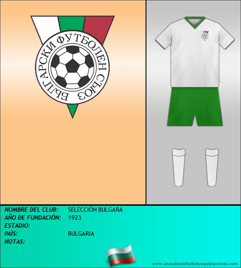 Escudo de SELECCIÓN BULGARA