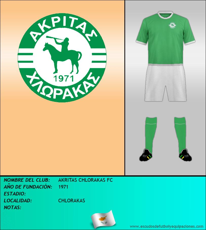 Escudo de AKRITAS CHLORAKAS FC