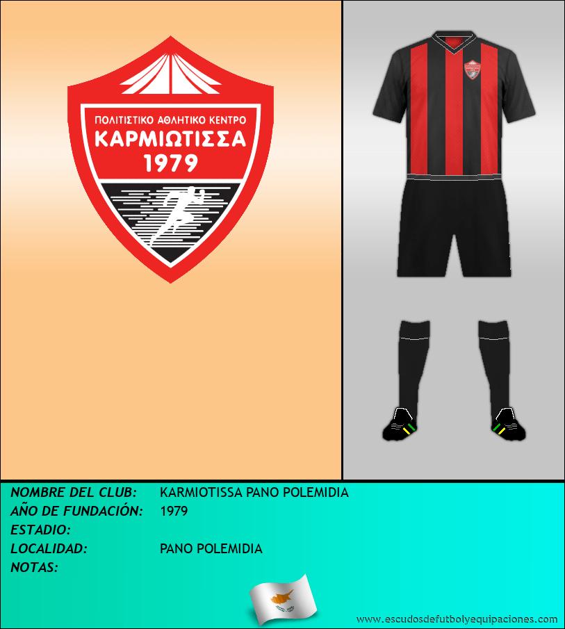 Escudo de KARMIOTISSA PANO POLEMIDIA
