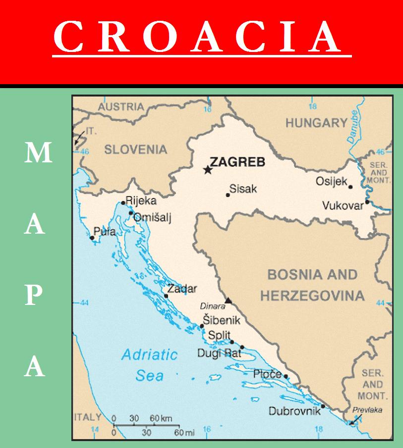 Escudo de MAPA DE CROACIA